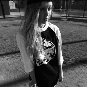 "Image of Finally Hip x Slurpcult ""Sluggers"" Baseball Raglan"