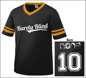 Image of Limited Edition 10 Year Anniversary Baseball Tee BLACK/GOLD