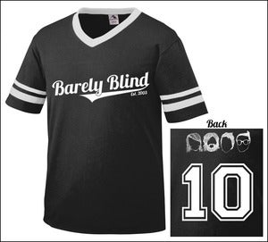 Image of Limited Edition 10 Year Anniversary Baseball Tee BLACK/WHITE