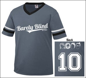 Image of Limited Edition 10 Year Anniversary Baseball Tee Graphite/White/Black