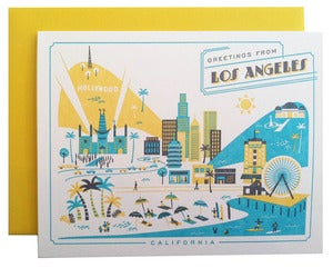 Image of Greetings from Los Angeles card