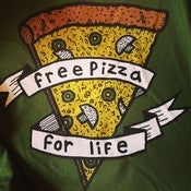 Image of FREE PIZZA FOR LIFE T-SHIRT - FOUR COLOR PRINT