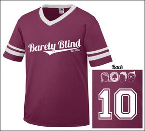 Image of Limited Edition 10 Year Anniversary Baseball Tee Maroon/White