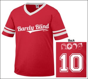 Image of Limited Edition 10 Year Anniversary Baseball Tee Red/White