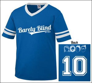Image of Limited Edition 10 Year Anniversary Baseball Tee Royal/White