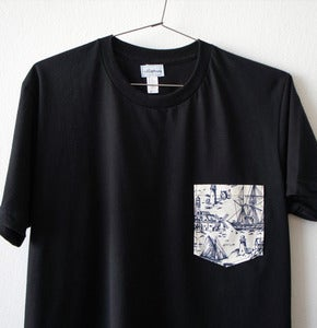 Image of OLD SCHOOL POCKET TEE (black)