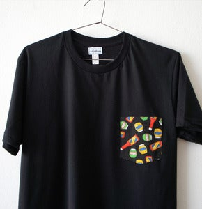 Image of KETCHUP POCKET TEE (black)