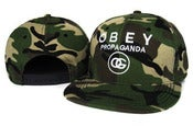 Image of NEW! OBEY Propaganda OG Camo Snapback Hat (Green)
