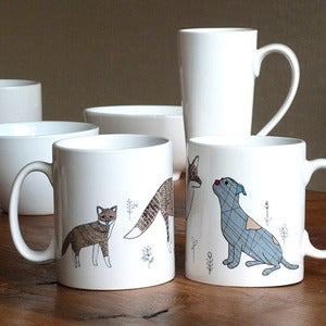 Image of Dog and Fox Ceramic Mug