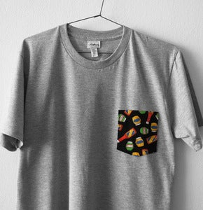 Image of KETCHUP POCKET TEE (grey)