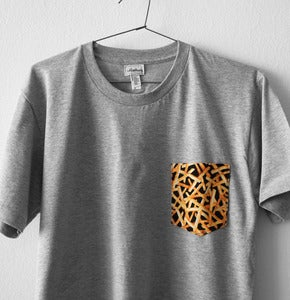 Image of FRENCH FRIES POCKET TEE (grey)