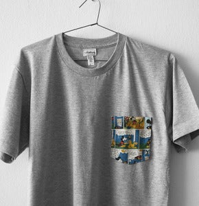 Image of MICKEY MOUSE POCKET TEE  (grey)
