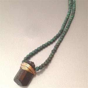 Image of BLACK & GREEN NECKLACE