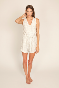 Image of Penny Romper, Tictactoe Print
