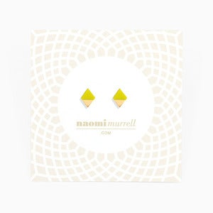 Image of Diamond Studs | Acid Yellow + Golden