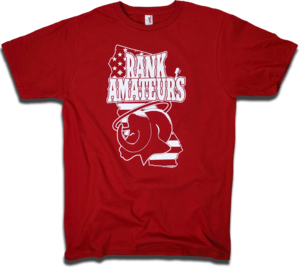 "Image of Adam Rank ""Rank Amateurs"" tee by Backpage Press"