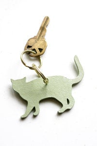 Image of Cut Path Cat Keychain