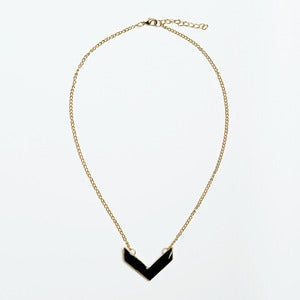 Image of Black Chevron Necklace