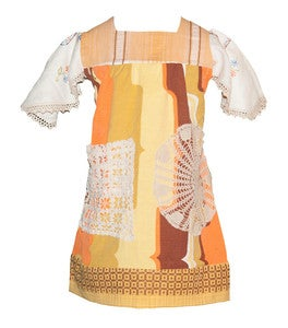 Image of Autumn leaf VINTAGE tunic  XLARGE
