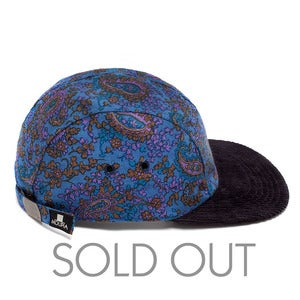 Image of MOUPIA Blue Paisley/Cord. 5 Panel Hat