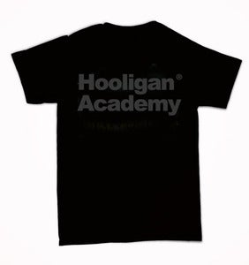 "Image of Hoolgan Academy ""All Black Print OG Logo"" Tee"