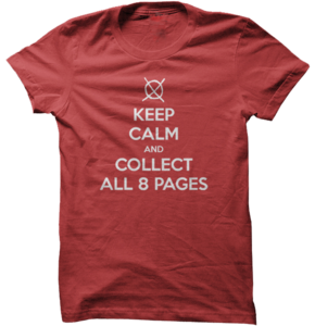 Image of Keep Calm and Collect All 8 Pages (Slender Man) - Red