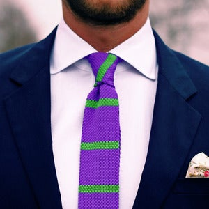 Image of Purple Knit Tie