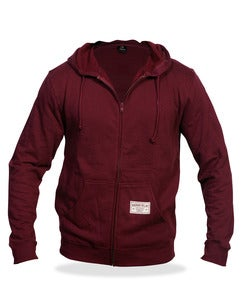 Image of Zip Hoodie Unisex-Maroon