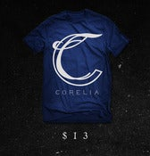 Image of 'C Logo' T-Shirt (blue/white)