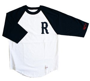 Image of Signature R Raglan - Black/White