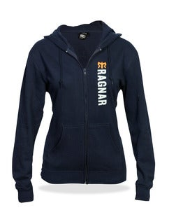 Image of Zip Hoodie Unisex-Navy