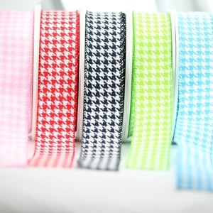 Image of Woven Houndstooth Ribbon