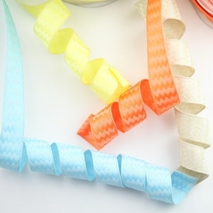 Image of Woven Chevron Wired Ribbon