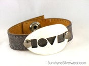 Image of LOVE Leather Cuff Bracelet