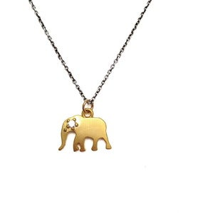Image of Flora Elephant Necklace