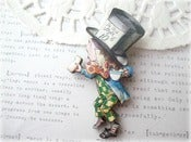 Image of The Mad Hatter Alice In Wonderland Brooch