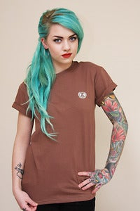 Image of Embroidered Logo Tee (Brown)