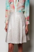 Image of Metallic A-Line Skirt