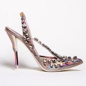 Image of Crystal Slingback: Metallic Pink