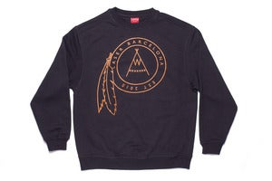 Image of Native logo  Sweatshirt in charcoal