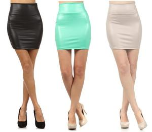 Image of BELLA HONEY LEATHER HIGHWAIST SKIRT