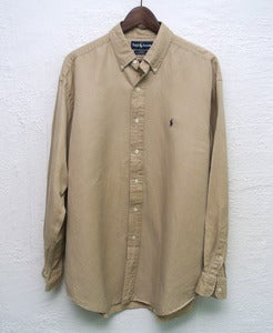 Image of Ralph Lauren silk/linen shirt (L)