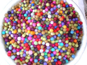 "Image of 1/2"" Felt Bead Balls: Assorted Solid Colors"