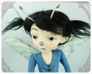 Image of SOLD! ~ Enalla ~ DamselFly Doll by the Filigree