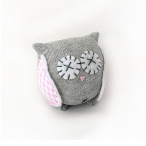 Image of Baby Owl Kit (Pink Gingham)