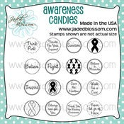 Image of Awareness Candies 4x4 ~ Peachy