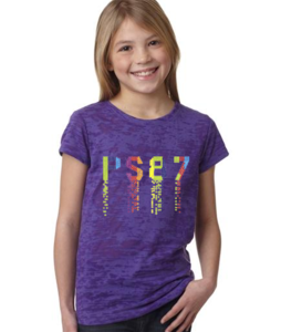 Image of PS 87 Rhinestone Tee - Rainbow Colors