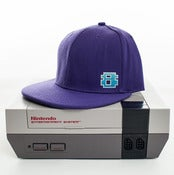 Image of 8 Bit Apparel #Pixel Snapback Purple