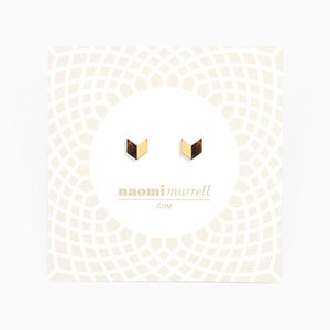 Image of Arrowhead Studs | Tortoiseshell + Golden