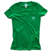 Image of 8 Bit Apparel #Pixel Womens Vneck Green